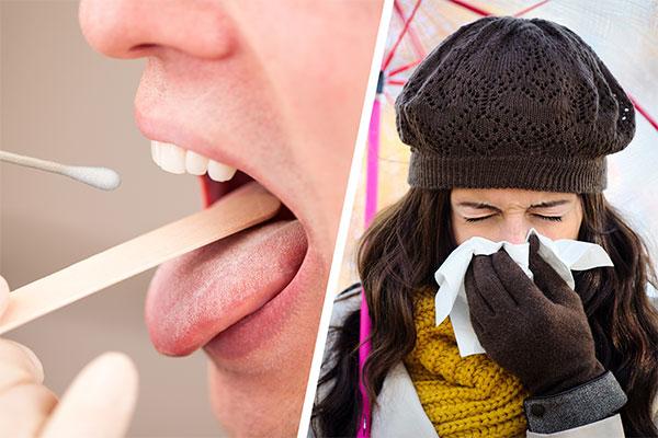 Mal de gorge, TROD angine, rhume et conseils associés